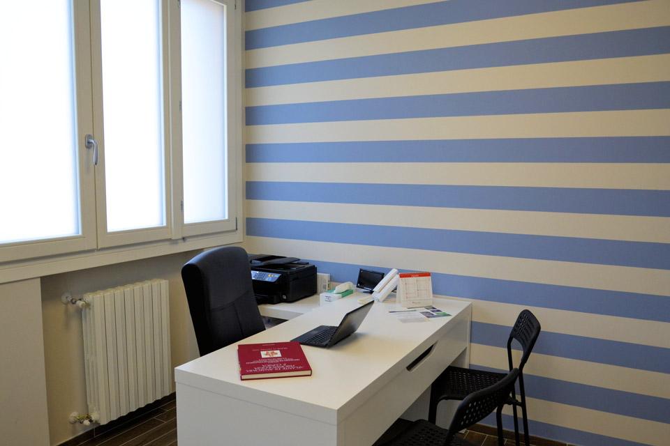 Lo spazio interno dello Studio di Fisioterapia e Osteopatia della Dottoressa Sara Dante